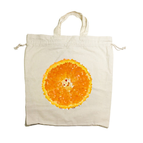 Orange Drawstring Tote Bag