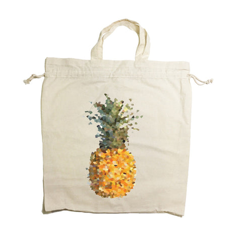 Pineapple Drawstring Tote Bag