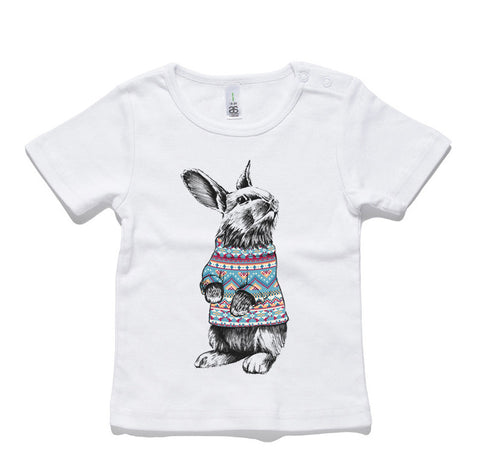Rabbit Jumper 100% Cotton Baby T-Shirt