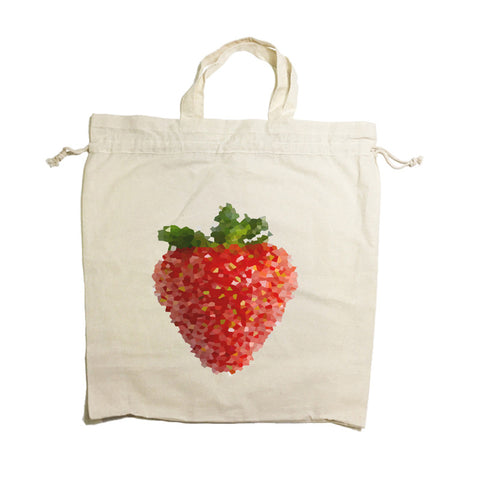 Strawberry Drawstring Tote Bag