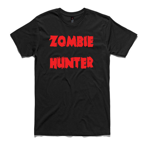 Zombie Hunter Black 100% Cotton T-Shirt