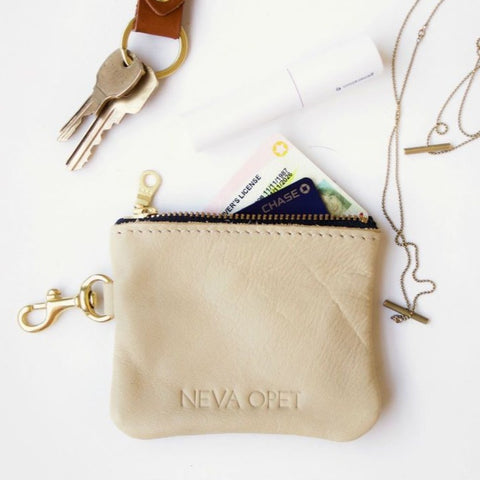 Leather Wristlet Keychain
