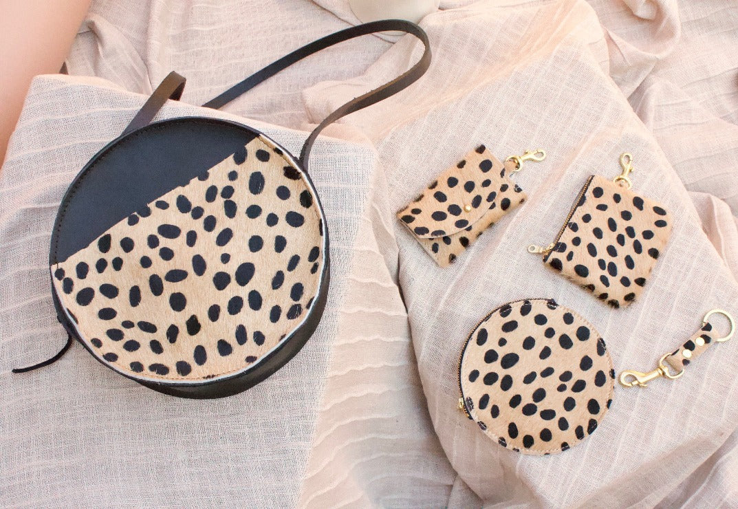 The Marina Bag with Front Pocket // Cheetah