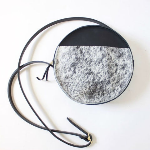 The Audrey Circle Pouch // Salt & Pepper