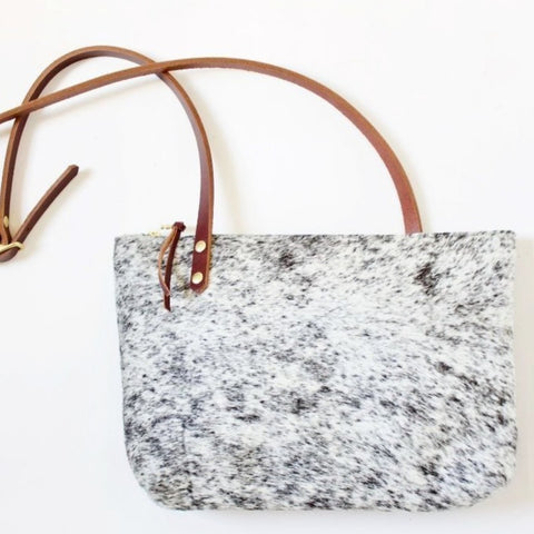 The Rosa Hobo // Salt & Pepper Hair-On