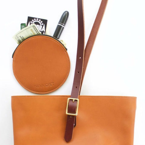 Neva Opet leather Audrey Circle Pouch sienna