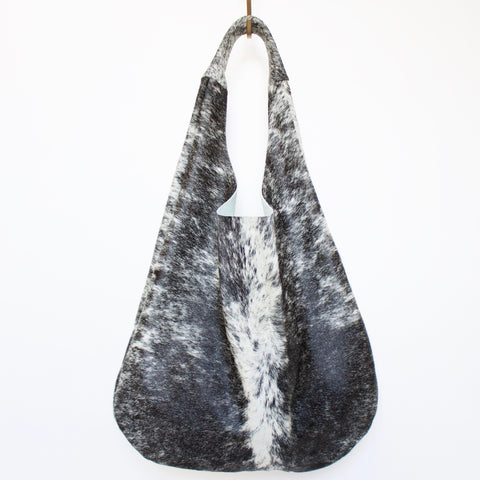 The Marina Bag with Front Pocket // Salt & Pepper Hair-On