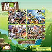 Animal Planet 4-pack 100 Piece Puzzles by Jenny Newland - Zolo's Room