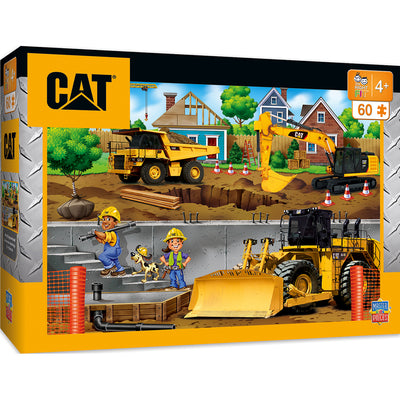 Caterpillar In My Neighborhood Right Fit - Construction Trucks 60 Piece Kids Puzzle - Zolo's Room
