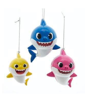 Baby Shark Ornaments - Set of 3 by Kurt Adler