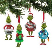 Grinch Mini Ornaments - 4 Piece Set