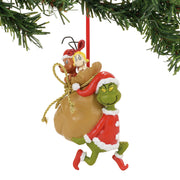 Grinch Santy Claus Stowaways Ornament
