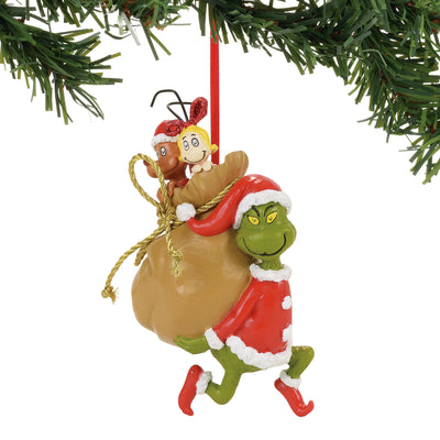 Grinch - Santy Claus Stowaways Ornament
