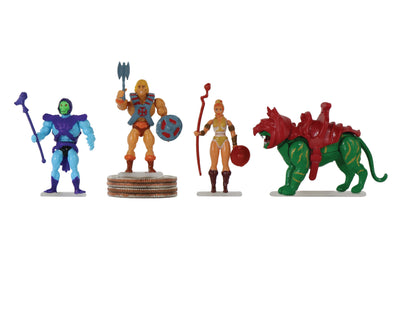 World's Smallest Masters of the Universe Set of 4 Micro Action Figures