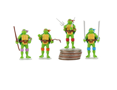 World's Smallest Teenage Mutant Ninja Turtles Set of 4 Micro Action Figures