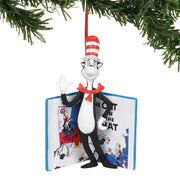 Dr Seuss Cat in the Hat inside Book Ornament