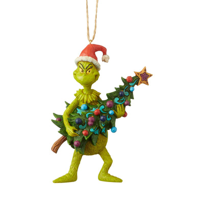 Grinch Holding Tree Ornament by Jim Shore