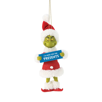 Grinch - Here For The Presents Ornament