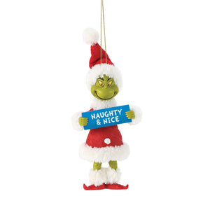Grinch - Naughty & Nice Ornament