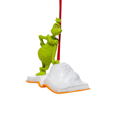 Grinch - Open Book Ornament