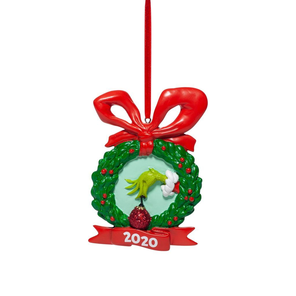 Grinch - Hand In Wreath Dated Ornament