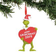 Grinch with Heart Dated Ornament