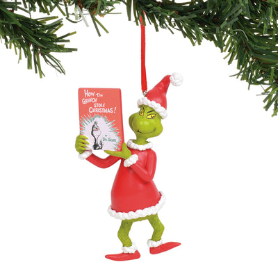 Grinch - With Book Ornament