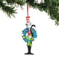 Dr. Seuss - Cat In The Hat with Wreath Ornament