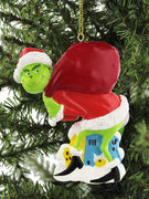 Grinch with Sack for Personalization Ornament by Kurt Adler