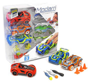 Modarri Delux 3 Pack Build Your Car Kit Toy Set (S1,X1,T1) - Ultimate Toy Car