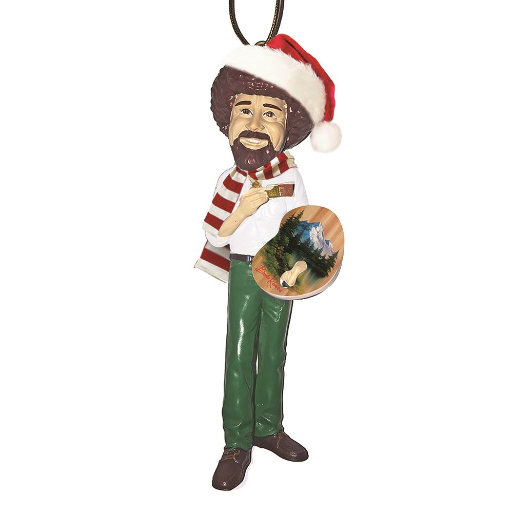 Bob Ross with Hat and Scarf Ornament by Kurt Adler