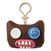 Fuggler Funny Ugly Monster, Collectible Plush Clip-On, Mr. Buttons - Brown