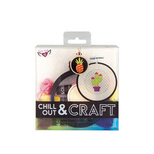 Chill Out & Craft Mini Embroidery Kit