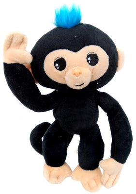 Fingerlings Baby Monkey Black with Blue Hair 10-Inch Plush with Sound - Zolo's Room