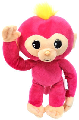 Fingerlings Baby Monkey Pink with Yellow Hair 10-Inch Plush with Sound - Zolo's Room