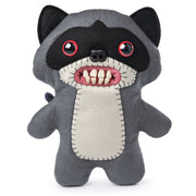 "Fuggler Funny Ugly Monster, 9"" Bandit Plush Creature with Teeth - Grey"