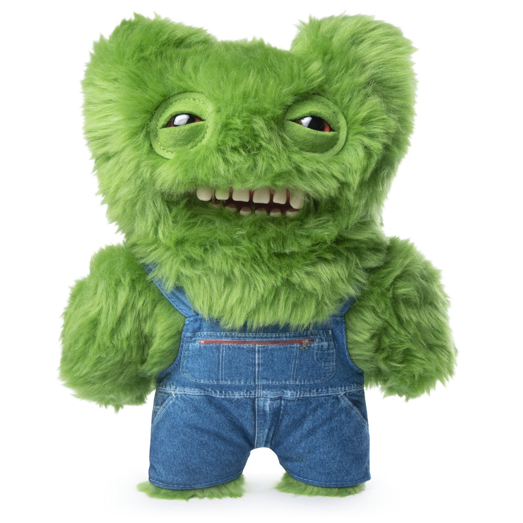 "Fuggler Funny Ugly Monster, 9"" Old MacFuggler Plush Creature with Teeth - Fuzzy Green"