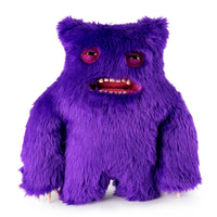 "Fuggler Funny Ugly Monster 12"" Clawey Deluxe Plush Creature with Teeth - Purple"