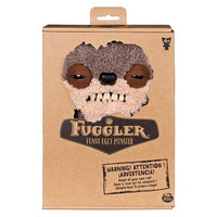"Fuggler Funny Ugly Monster, 9"" Teddy Bear Nightmare Plush Creature with Teeth - Fuzzy Brown Fur"