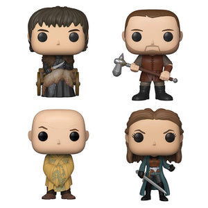 Game of Thrones Funko POP! TV Set of 4 Vinyl Figures Bran Stark, Gendry, Lord Varys, Yara Greyjoy