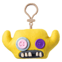 Fuggler Funny Ugly Monster, Collectible Plush Clip-On, Grumpy Grumps - Yellow