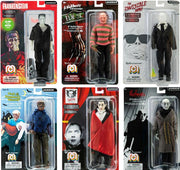 Horror Frankenstein, Freddy, Werewolf, Dracula, Nosferatu & Invisible Man Set of 6 Action Figures