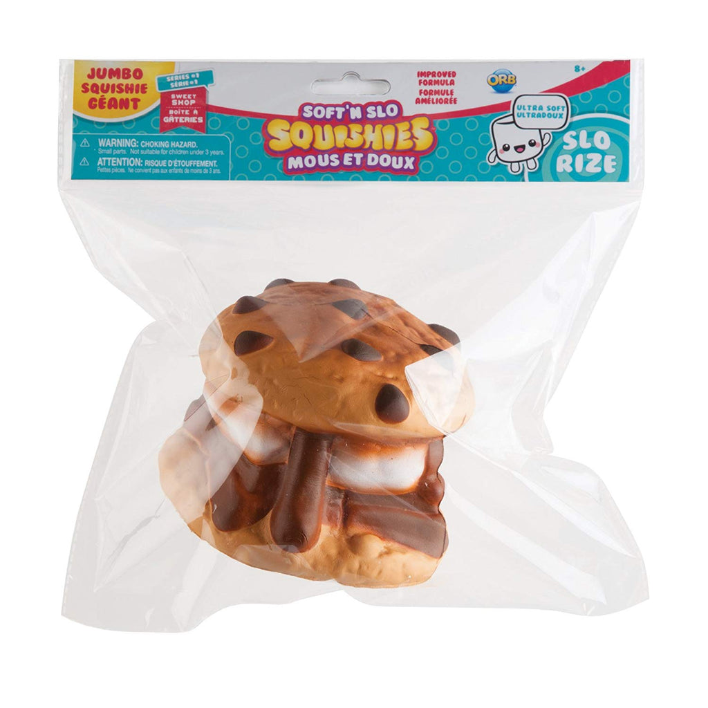 Soft'N Slo Squishies Jumbo Sweet Shop Cookie S'More Scented Squeeze Toy