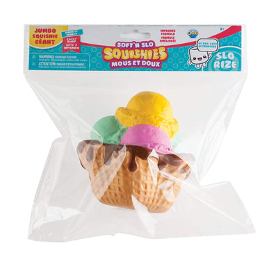 Soft'N Slo Squishies Jumbo Sweet Shop Ice Cream Sunday Scented Squeeze Toy
