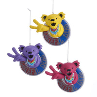 Grateful Dead Peace Bear Ornaments - Set of 3 by Kurt Adler