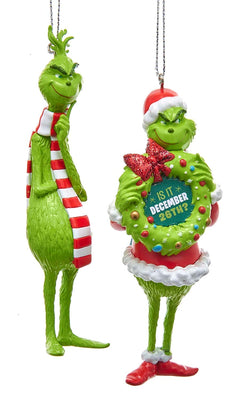 Kurt Adler Grinch Blow Mold Ornament Set of 2