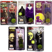 "Horror Wave 6 Set of 5 - 8"" Action Figures Includes Frankenstein, Dracula, Werewolf, Freddy, & Nosferatu"