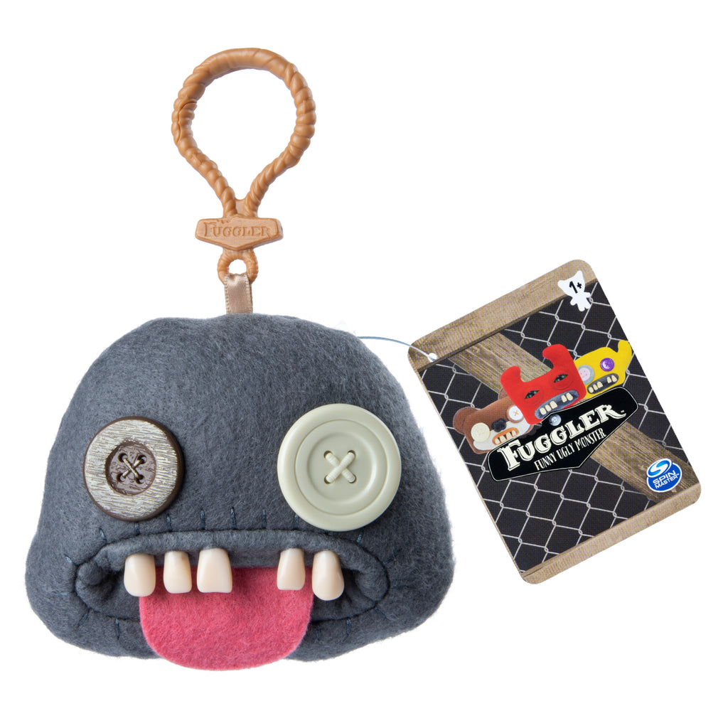 Fuggler Funny Ugly Monster, Collectible Plush Clip-On, Oogah Boogah - Grey