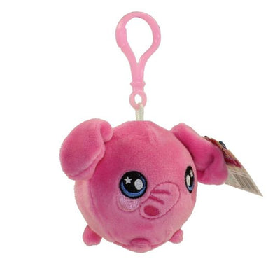 Squeezamals Series 2 Pink Elephant 3-Inch Clip On