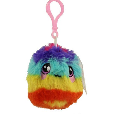 Squeezamals Series 2 Rainbow Fur Ball 3-Inch Clip On